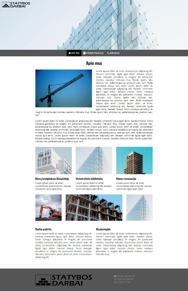 Pigiossvetaines.lt svetainės dizainas - Statyba, statybos darbai, renovacija.